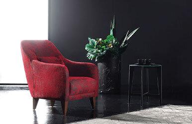 Enza Home Fiore Armchair Kırmızı
